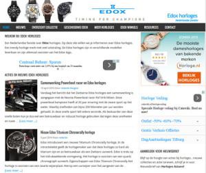 Edox horloges nieuw design