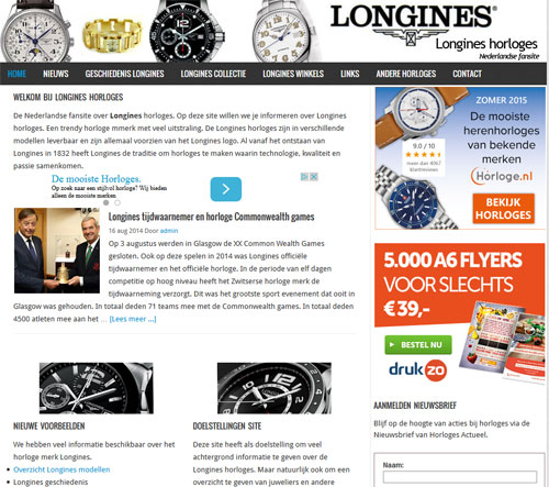 Longines horloges 2014