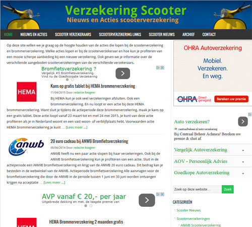 Verzekering Scooter 2015