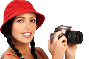 Stockphoto women with camera
